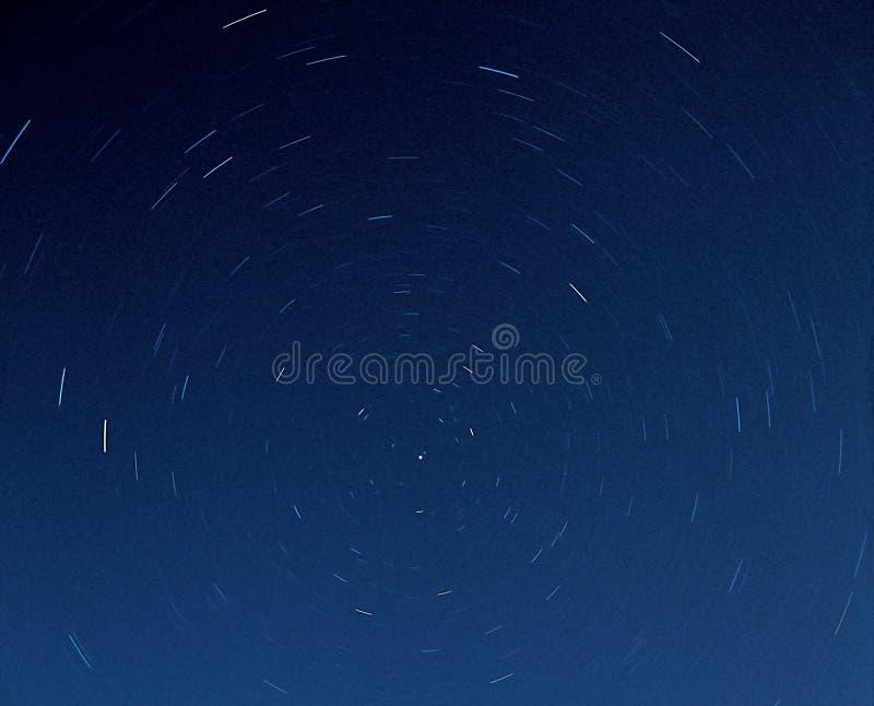 在夜空的星形。 图库摄影