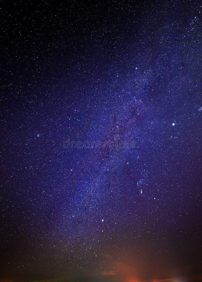在夜空的星 免版税库存照片