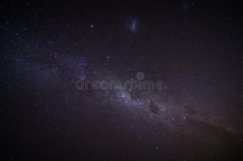 在夜空的银河 免版税图库摄影