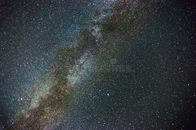 在夜空的银河 库存照片
