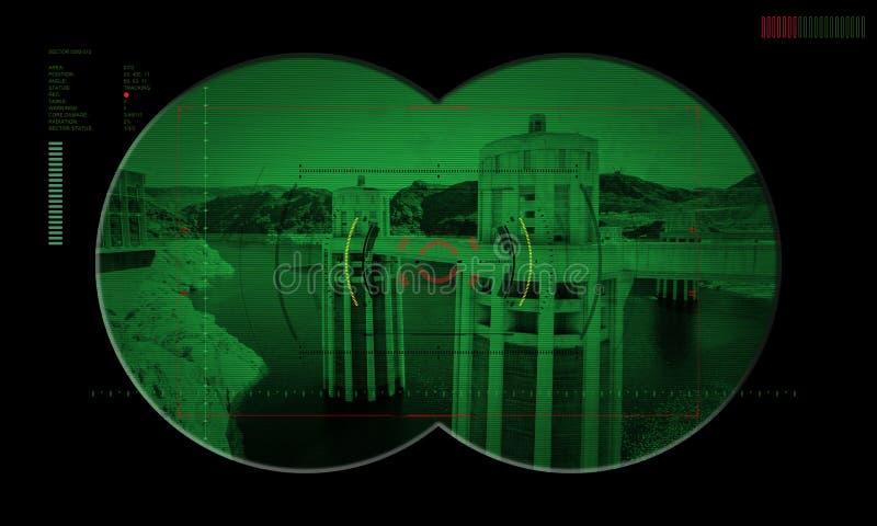 在夜间作战人质抢救期间的别动队员队 通过看法 免版税库存图片