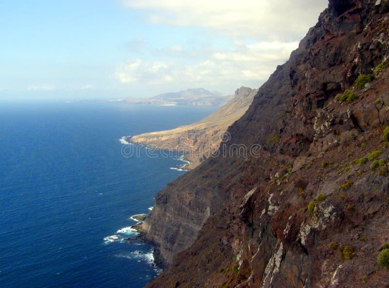 在大加那利岛的美好的海景 免版税库存照片