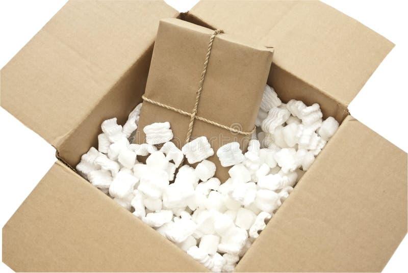 在大小里面的配件箱 库存照片