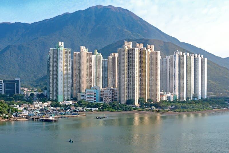 在大屿山,香港的Yat桐树庄园 库存照片