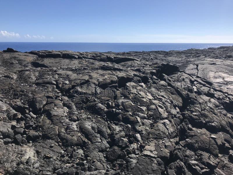 在大岛的卢旺达火山国家公园熔岩 库存图片