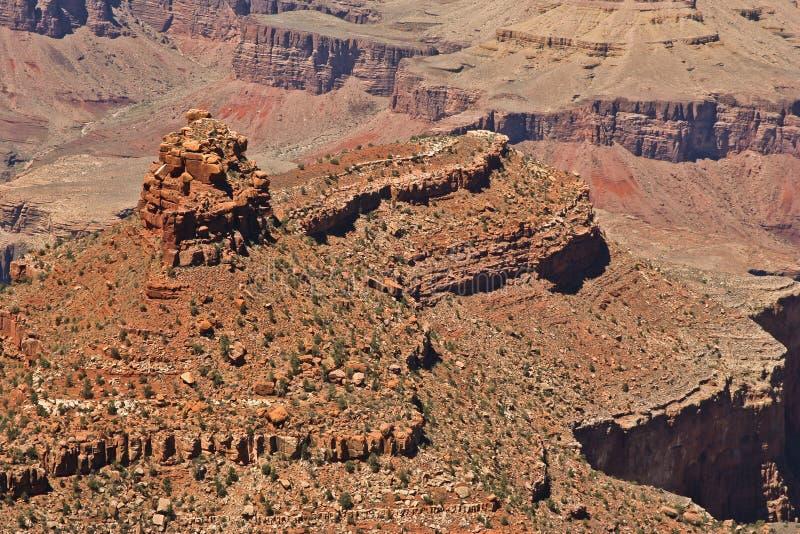 在大峡谷的岩层 库存照片