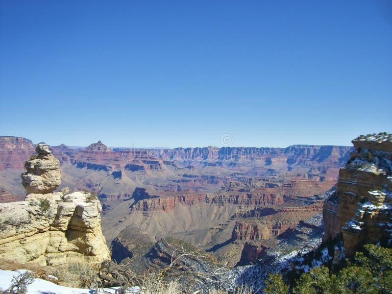 在大峡谷的看法 免版税库存照片
