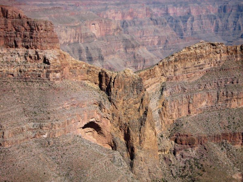 在大峡谷西部外缘的老鹰点在西北在Hualapai印地安人ReservationArizona 库存照片