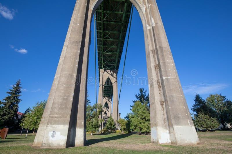 在大教堂公园的圣约翰斯桥梁下 免版税库存照片