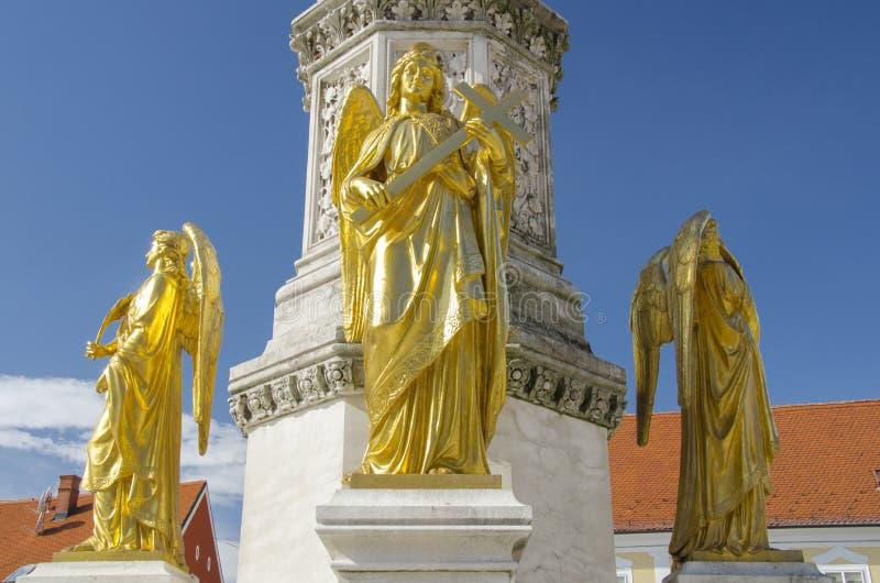 萨格勒布大教堂 免版税库存图片