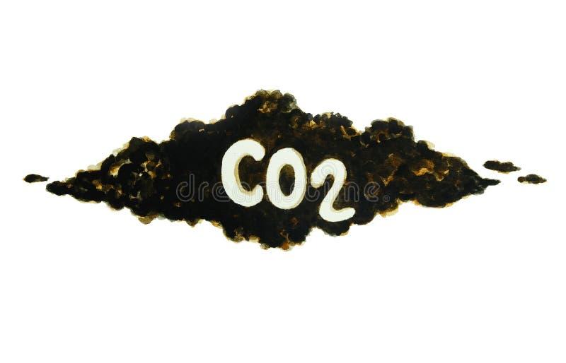 在大气污染的碳 库存图片