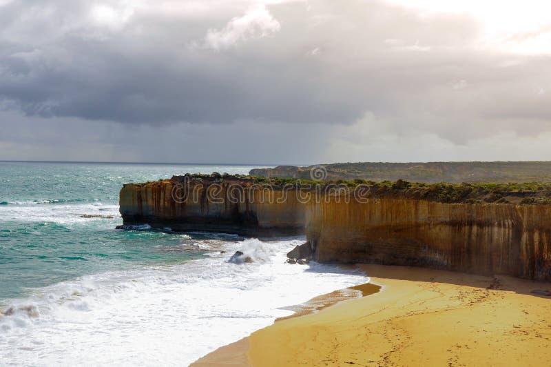 在大洋路路线的岩石曲拱在澳大利亚 图库摄影