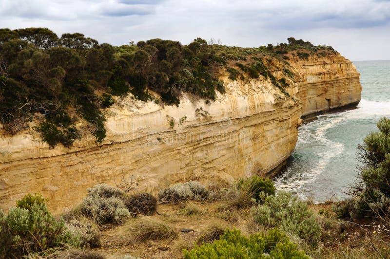 在大洋路路线的岩石曲拱在澳大利亚 库存图片