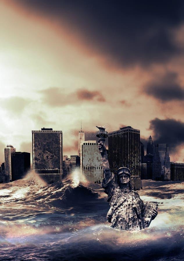 在大海啸以后 免版税库存照片