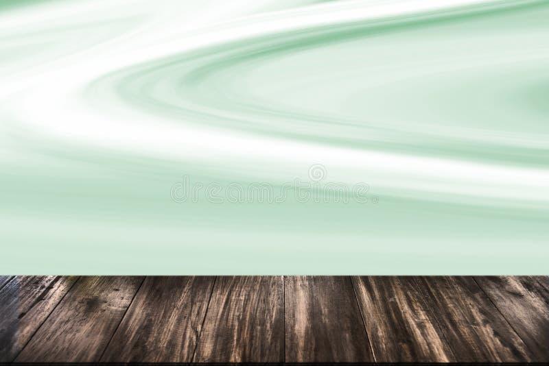 在大理石背景的抽象自然木桌纹理 库存例证