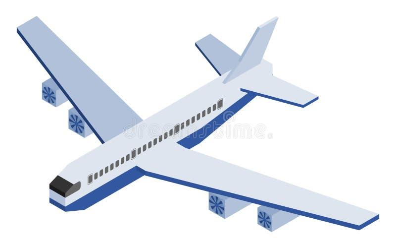 在大白色背景的等量飞机 皇族释放例证