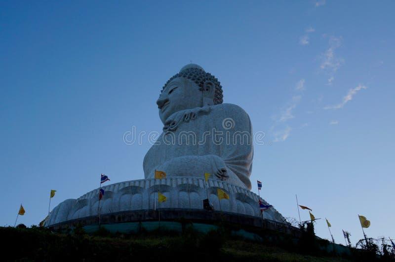 在大菩萨雕象的看法在普吉岛 库存照片