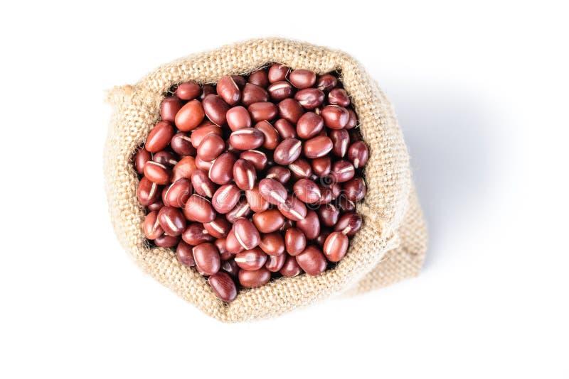 在大袋的红豆 库存图片