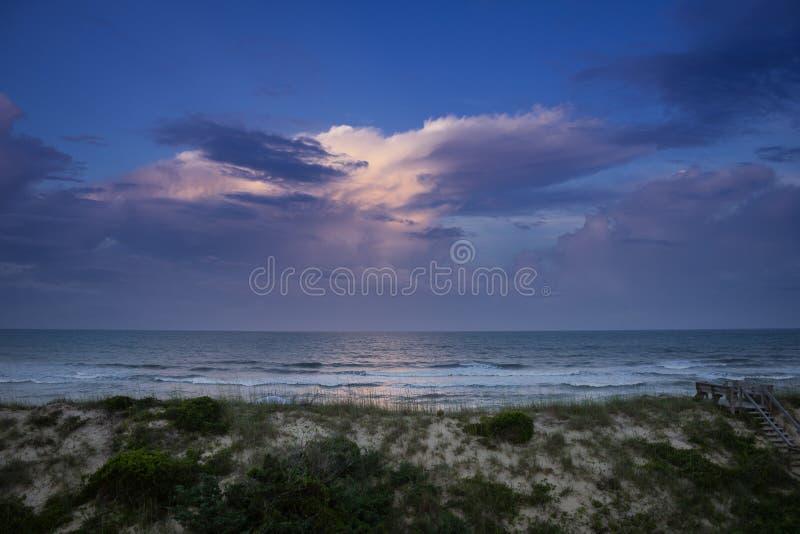 在大西洋的日落 免版税图库摄影
