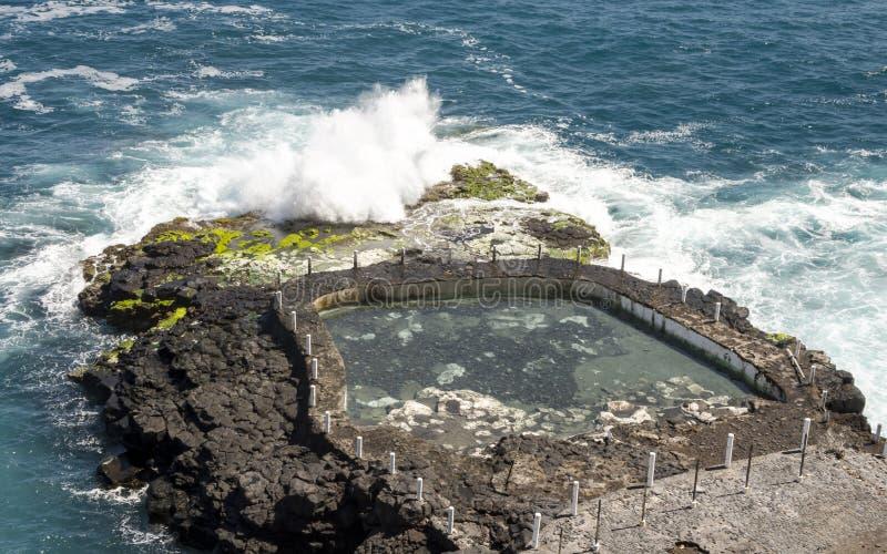在大西洋的波浪 免版税库存照片