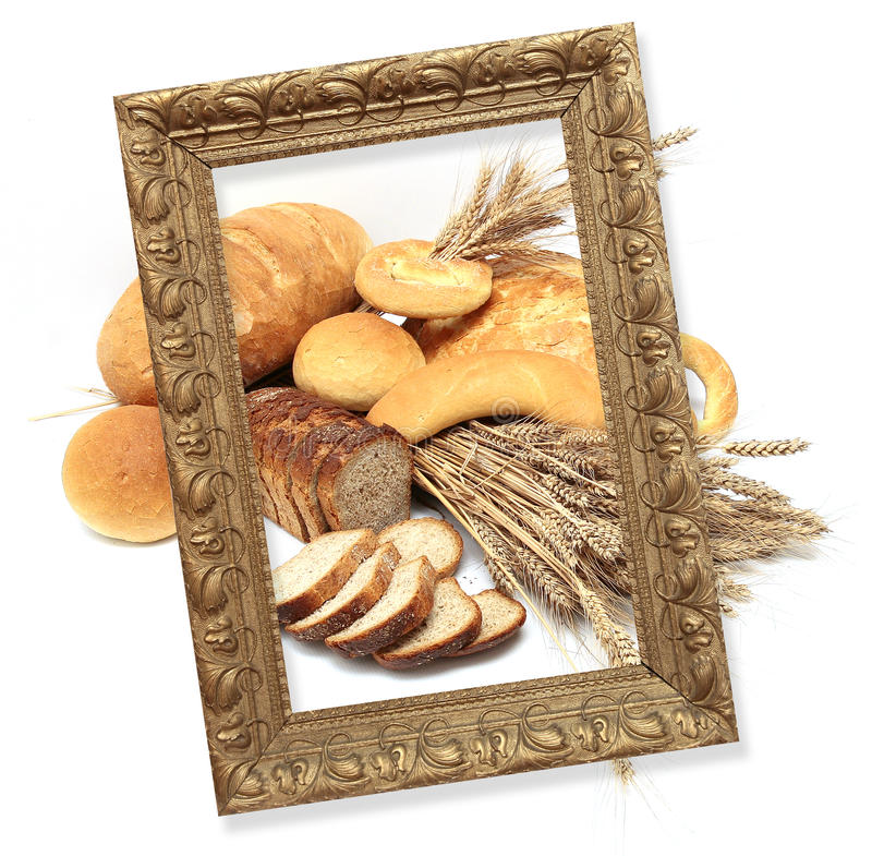 在大面包上添面包 免版税库存照片