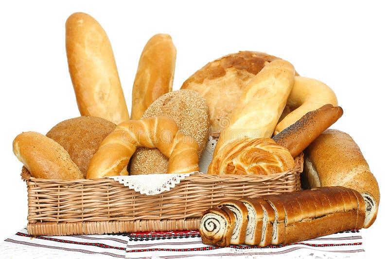 在大面包上添面包 库存图片