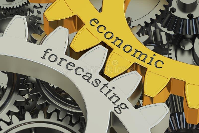 在大齿轮的经济预测概念, 3D翻译 库存例证