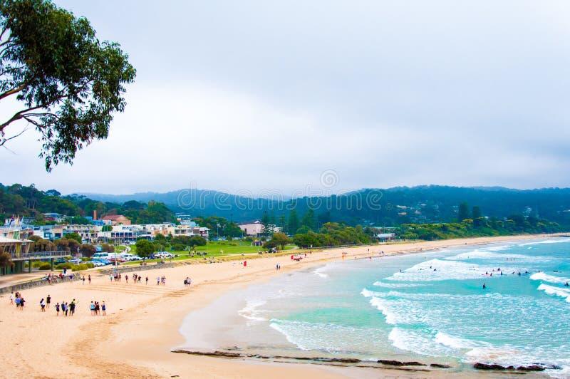 在大洋路,维多利亚的洛恩海滩状态,澳大利亚 图库摄影