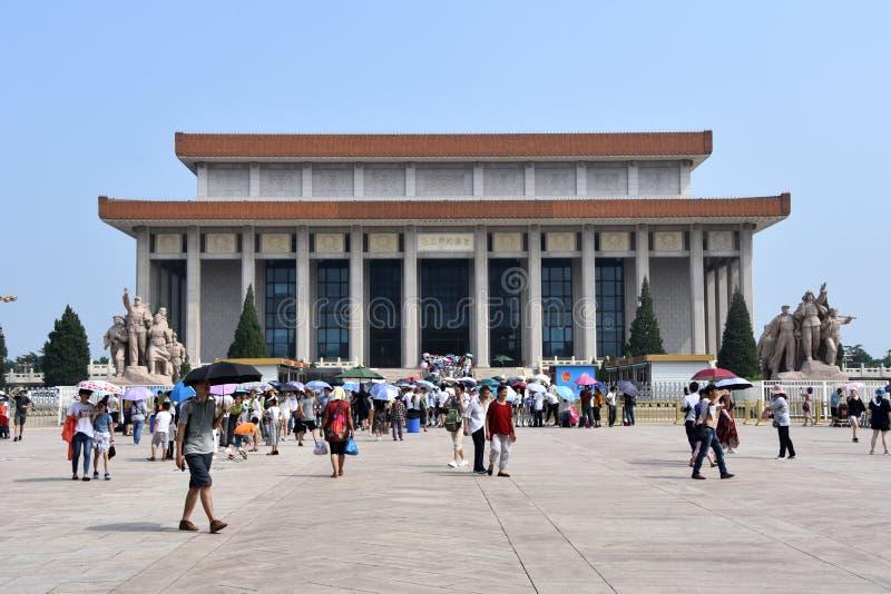 在天安门广场,北京,中国的好日子 图库摄影