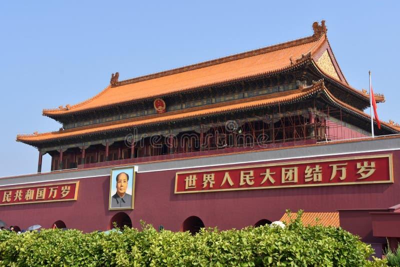 在天安门门,北京,中国的好日子 库存照片