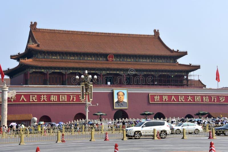 在天安门门,北京,中国的好日子 库存图片