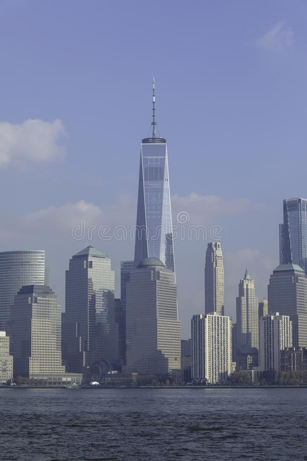 在天时间的NYC地平线 免版税库存照片