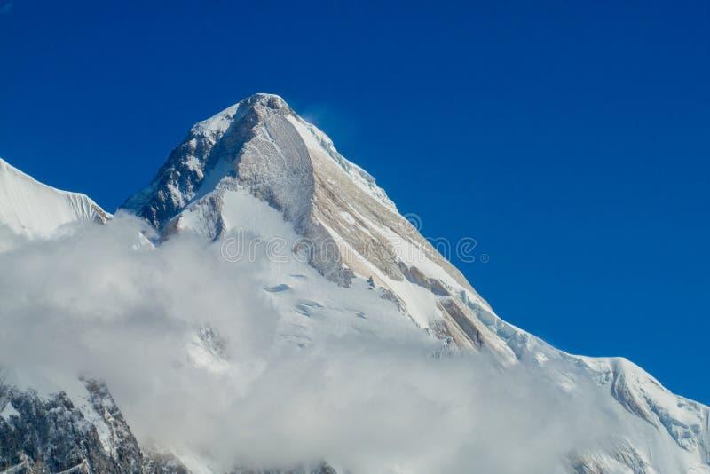 在天狮单的山汗腾格里峰 库存图片