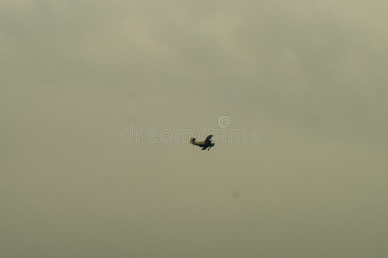在天空的乌克兰飞机 库存照片