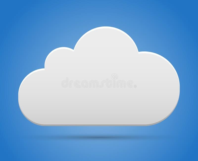 在天空的云彩 库存例证