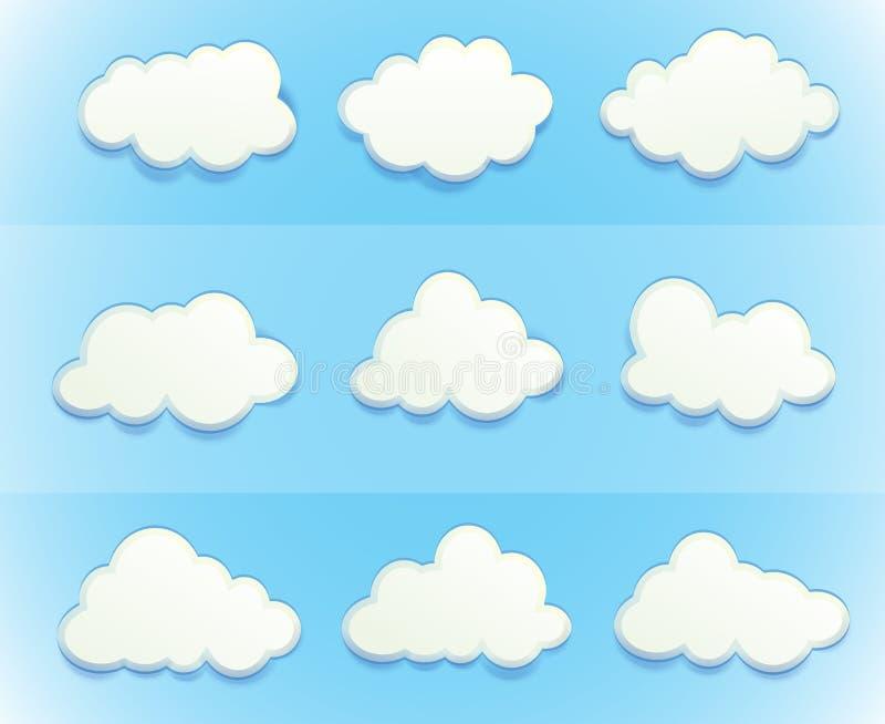 在天空的云彩 向量例证