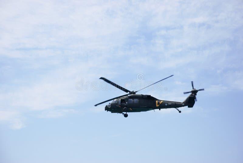 在天空的以色列` s军用直升机 图库摄影