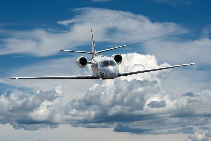 在天空的喷气机 库存照片