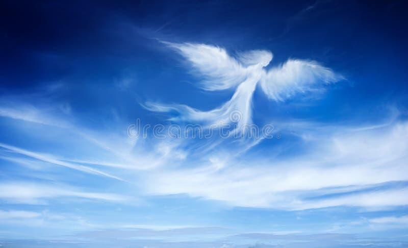 在天空的天使 免版税图库摄影