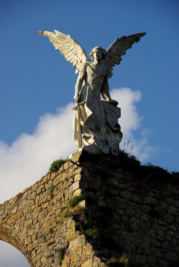 在天空的天使 免版税库存图片