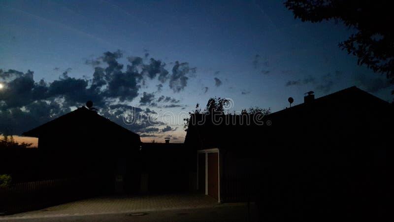 在天空的巨大看法 库存图片