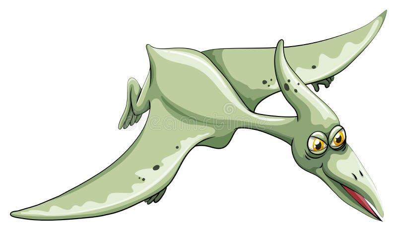 在天空的恐龙飞行 向量例证