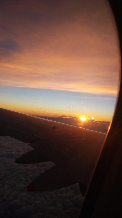 在天空的日出 库存照片