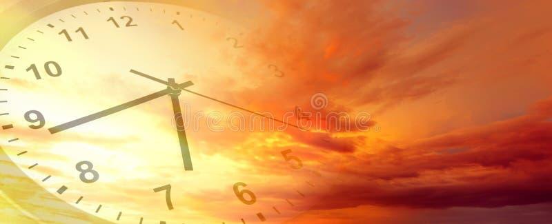 在天空的时钟 图库摄影