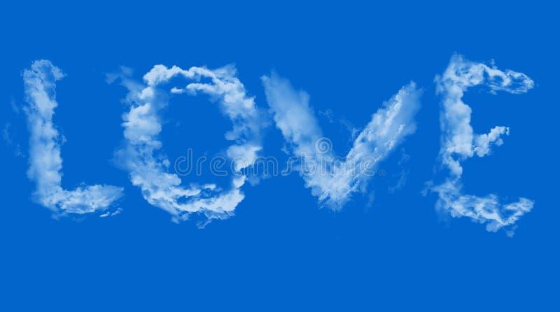 在天空的爱 免版税库存照片
