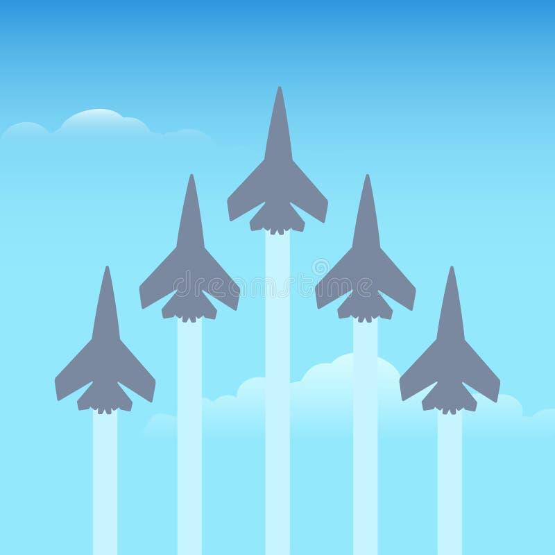 在天空的特技飞行飞机 库存例证