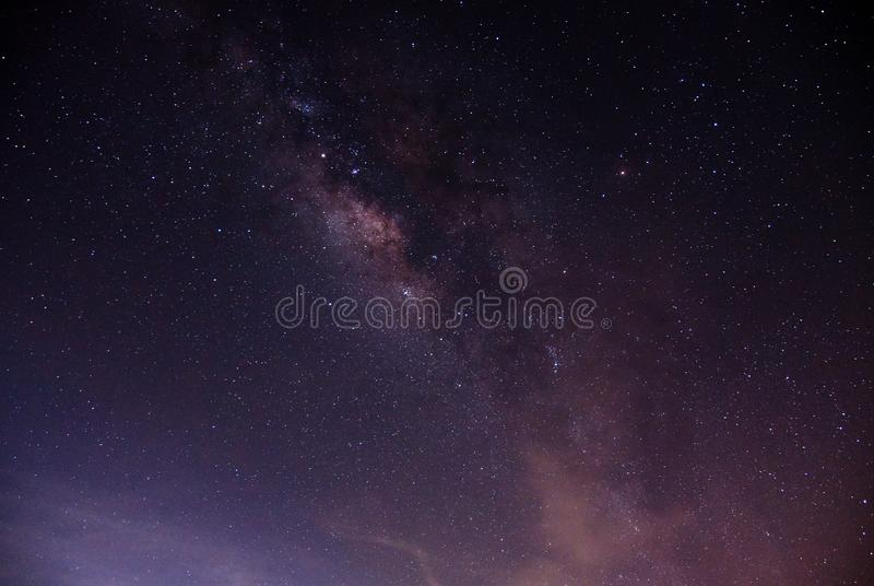 在天空的银河星系 免版税库存照片
