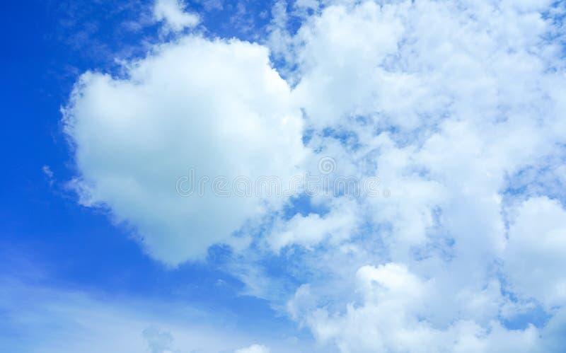 在天空蔚蓝背景的白色软的云彩纹理 免版税图库摄影