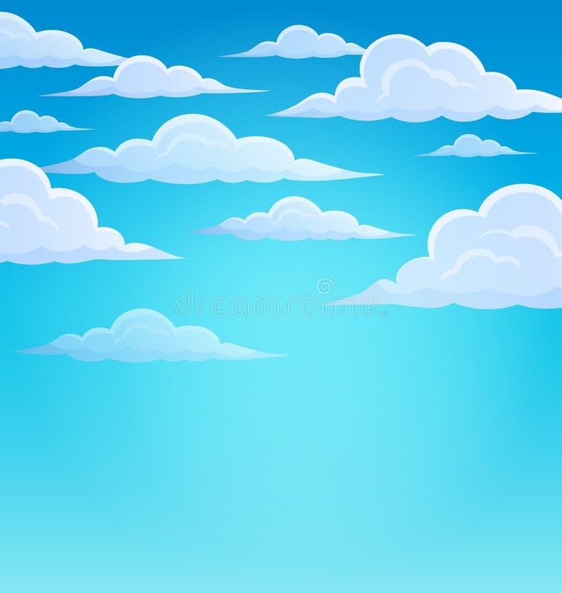 在天空题材1的云彩 库存例证