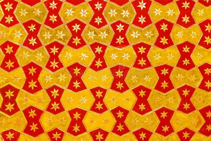 在天花板的特征模式在Topkapi宫殿 免版税库存照片